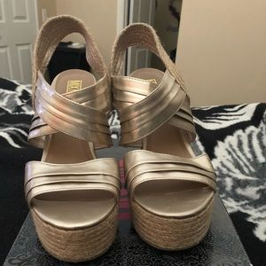 Gold Wedge Heel